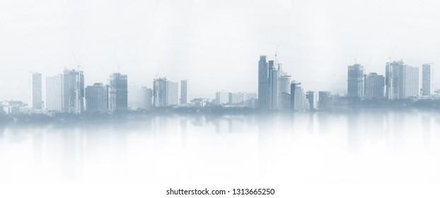 Urban landscape city background