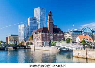 Urban landscape of Malmo, Sweden