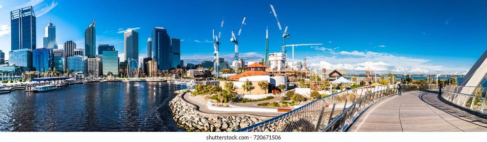 Urban landscape of Perth Australia