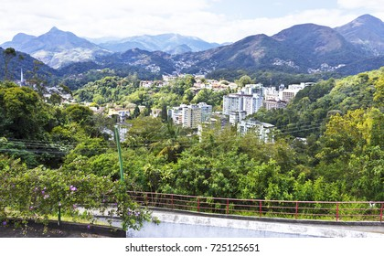 Urban landscape of the valleys of the city of Petropolis - Rio de Janeiro