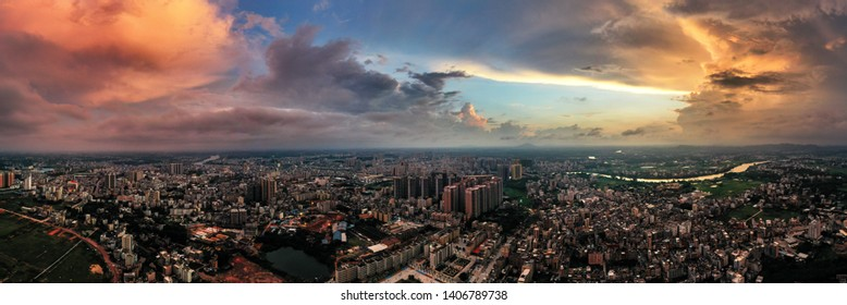 Urban landscapes captured by drones