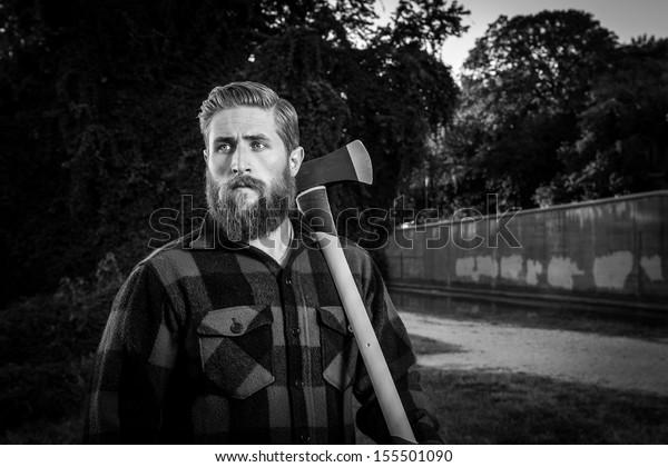 urban lumberjack portrait