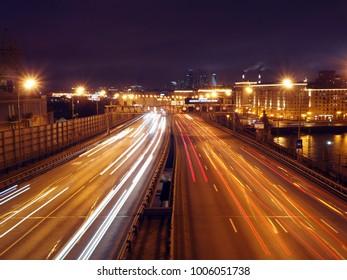 urban night motorway