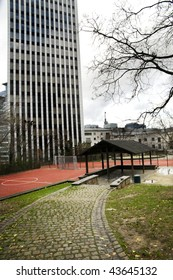 Urban playground in the center of Brussels