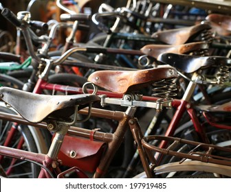 Urban retro bicycle, service and Bicycle rental