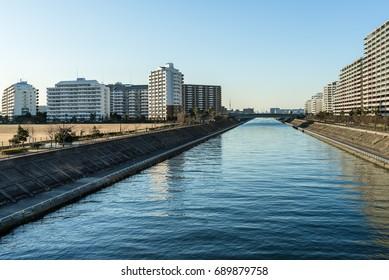 Urban River in Tokyo