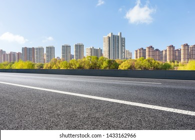 Urban roads and buildings under the sun