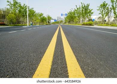 Urban roads and sidewalks