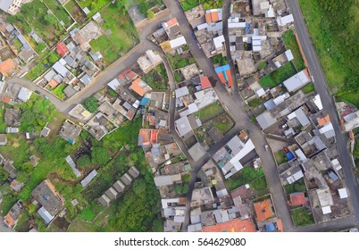 Urban Rooftops aerial view In a small latin town