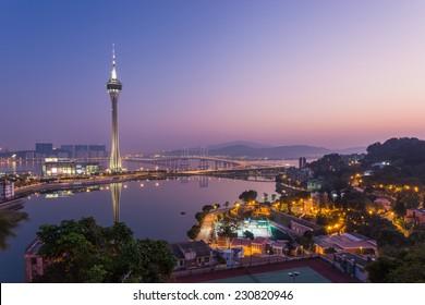 Urban scence cityscape of Macau in China.