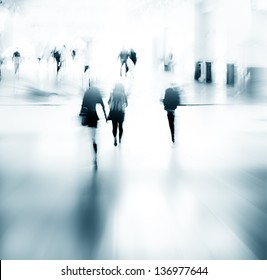 urban scene abstract city business people walking