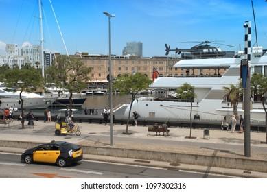 Urban scene in the Barcelona's port