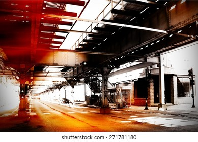 Urban scene at Chicago