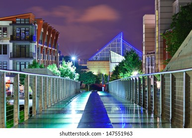 Urban scene in downtown Chattanooga, Tennessee, USA.