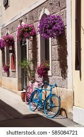 urban scene in Novigrad, Croatia.