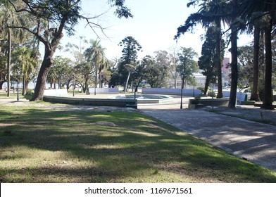 Urban scene at parque rodo park in Montevideo city, Uruguay