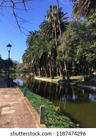 Urban scene at parque rodo park in Montevideo city, Uruguay