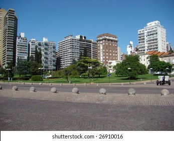 Urban Scene of Rosario, Argentina - day skyline
