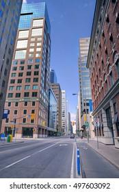 Urban scene street view in the morning, Ottawa, Canada.
