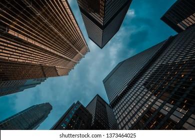 urban skyline; business center of big city;