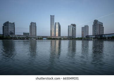 urban skyline and modern buildings, cityscape of China.