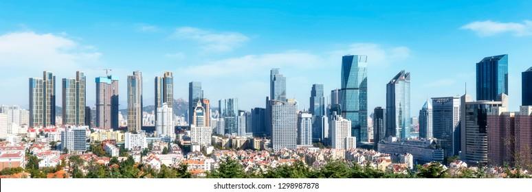 Urban skyline of Qingdao