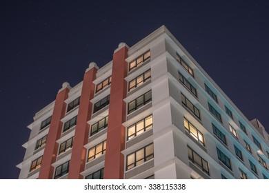 Urban Skyscraper at night