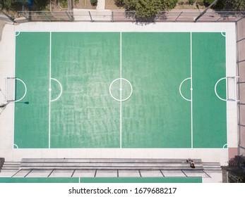 Urban sport field aerial view.