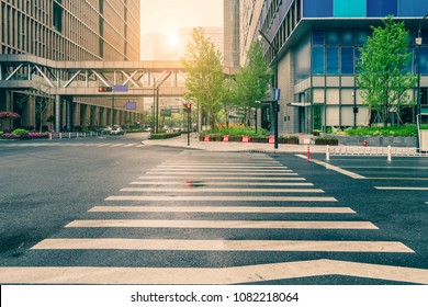Urban streets and architectural landscape