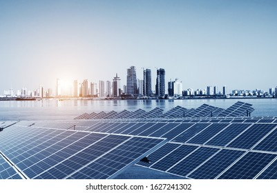 Urban tall buildings and solar panels