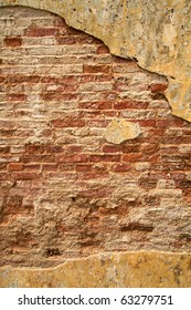 Urban texture, brick wall with plenty of room for text