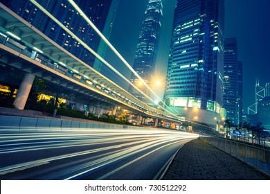 the urban traffic of hongkong,china