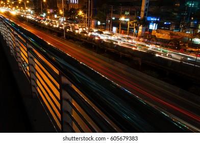 Urban traffic night