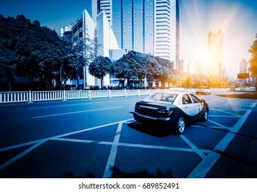 urban traffic view in modern city Shenzhen,China.