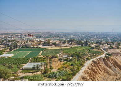 Urban view of Jericho from the top of the Mount of Temptation, Jericho, West Bank, Palestine, Israel
