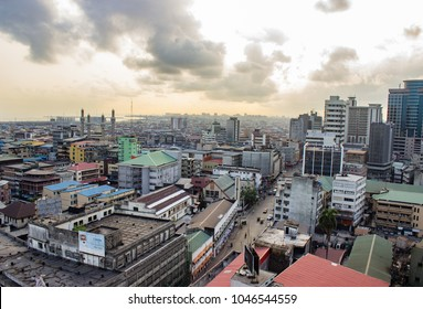 URBAN VIEW LAGOS, NIGERIA - March 15, 2018: Parts of Lagos viewed from the top on March 15, 2018