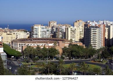 Urban view of Malaga city, Spain