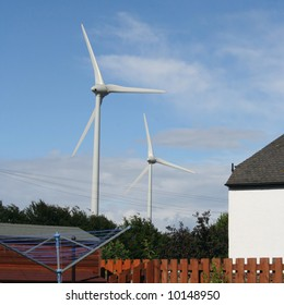 Wind Turbine House Images Stock Photos Vectors Shutterstock