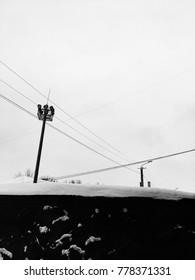 urban winter landscape