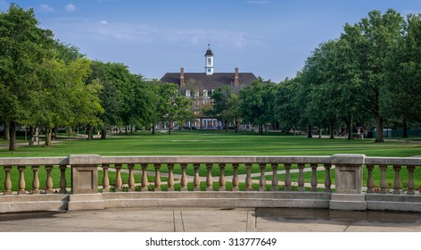 URBANA, ILLINOIS - SEPT 5: Illini Union from the Quad on the campus of the University of Illinois on September 5, 2015 in Urbana, Illinois