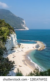 Urbani Beach at Numana Sirolo Ancona Mount Conero Marche region Italy - beautiful tiny pearl of the Adriatic Sea
