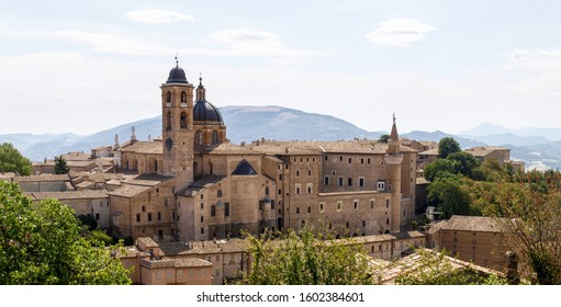 Urbino, Italy: City center of the medieval city