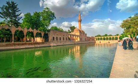 Urfa, Turkey - 2009 June 18 : Mosque of Halil-ur-Rahman and Abraham's Pool