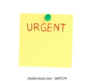 urgent post-it