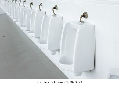 Urinals Men public toilet