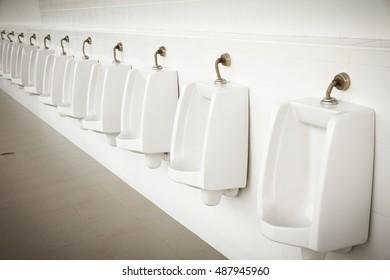 Urinals Men public toilet - Retro style
