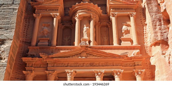 Urn atop the Treasury Building in the ancient city of Petra, dating to the second century, AD