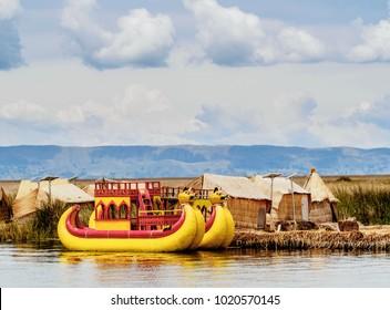 Uros Floating Islands, Lake Titicaca, Puno Region, Peru