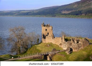 Urquhart Castle near Loch Ness, Scotland
