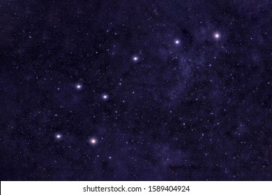 Ursa Minor, constellation. Against the background of the night sky. Elements of this image were furnished by NASA.